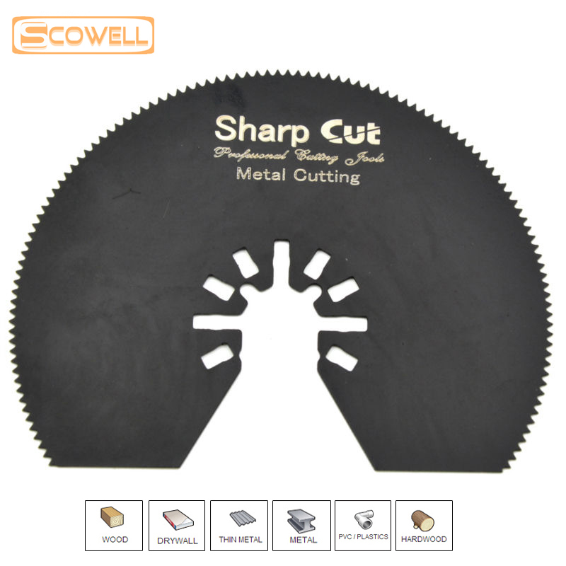 80mm HSS Half Round Oscillating Multi Tool Saw Blades For Metal